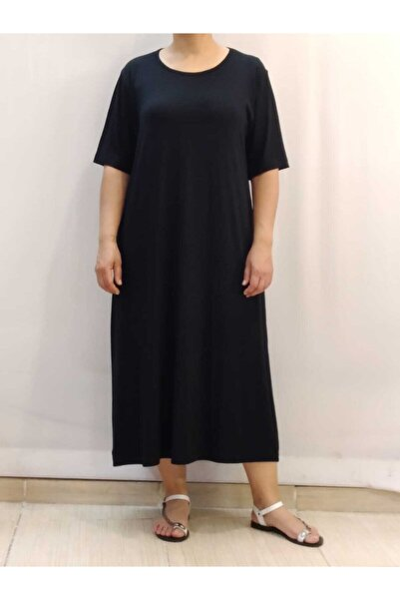 Kısa Kollu Siyah Elbise