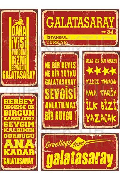 Galatasaray 6lı Mini Retro Ahşap Poster Seti