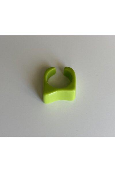 Yeşil Asimetrik Akrilik Yüzük
