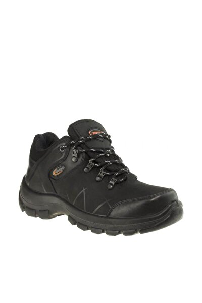 Erkek Siyah Su Geçirmez Hakiki Deri Ayakkabı M1413cs