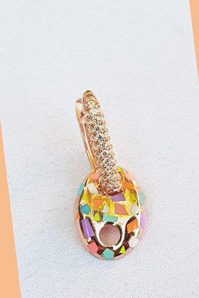 Kadın Konfeti Rose Kaplama Tekli Little Mix Love Düğme Gümüş Küpe