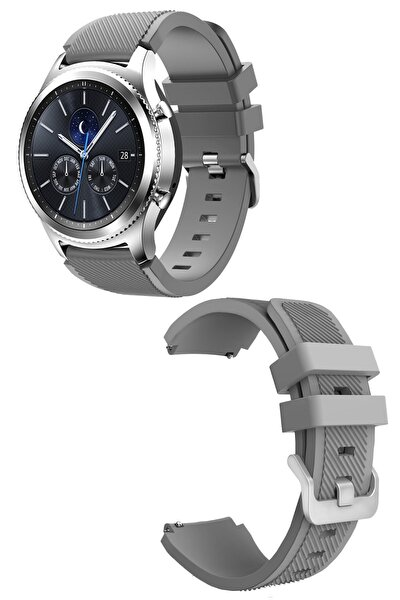 Huawei Gt / Gt 2 - Honor Magic Watch 2 46mm - Samsung Gear Watch 46mm Silikon Kordon Kayış A+ Kalite