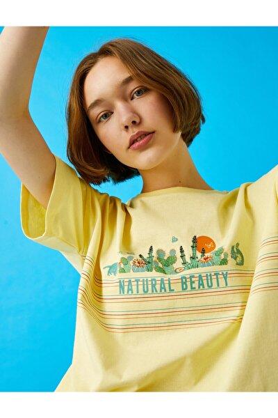 Kadın Sarı  T-Shirt