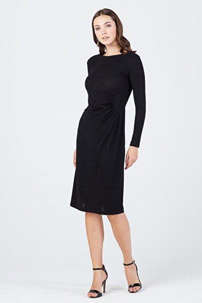 Kadın Siyah Simli Elbise 20K.EKL.ELB.01085.1
