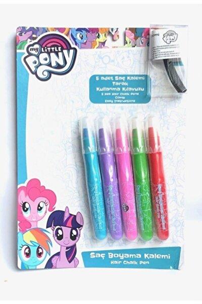 Saç Boyama Kalemi 5 Renk + Mini Tarak