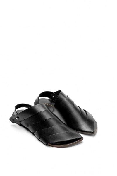 El Yapımı Hakiki Deri Özel Tasarım Kadın Sandalet - 9000