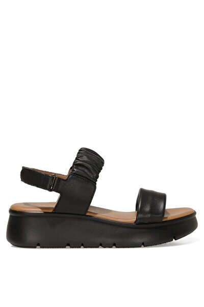 Kadın Siyah Deri Sandalet - 1fx
