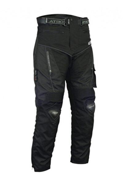 Erkek Siyah Titanyum Korumalı Kışlık Motosiklet Pantalonu