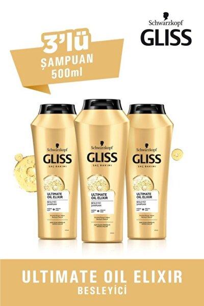 Ultimate Oil Elixir Besleyici Şampuan 500 ml 3'lü