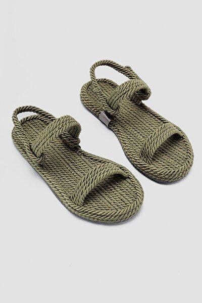 Kadın Haki Halat Sandalet