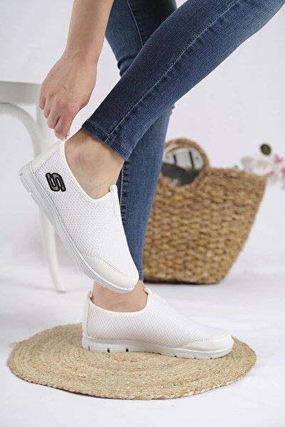 Lance Cilt Detaylı Fileli Kalın Taban Kadın Sneaker