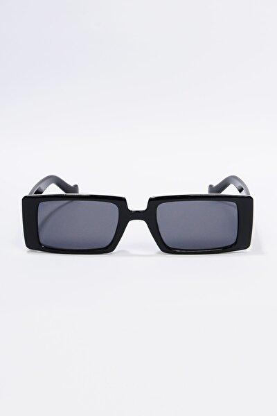 Kadın Siyah Dikdörtgen Güneş Gözlüğü