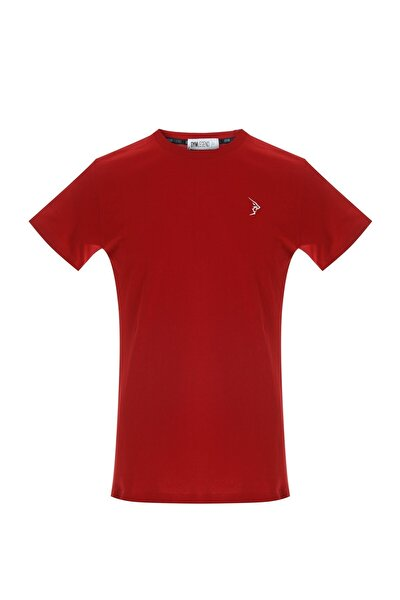 Erkek Kırmızı Süprem Kısa Kollu Basic Tişört