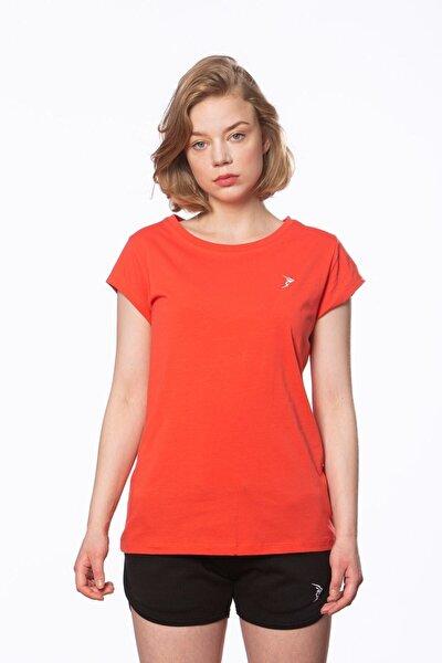 Kadın Nar Çiçeği Süprem Kısa Kollu Basic Tişört