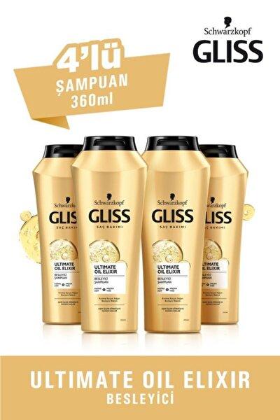 Ultimate Oil Elixir Besleyici Şampuan 360 ml 4'lü
