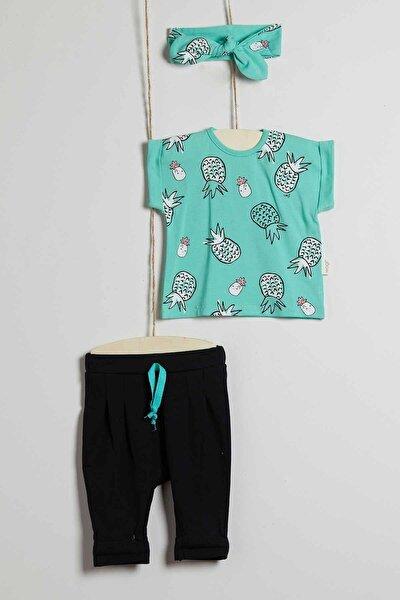 Kız Bebek Ananas Baskılı Tişört 3lü Takım 3-18 Ay Wg20s-5310