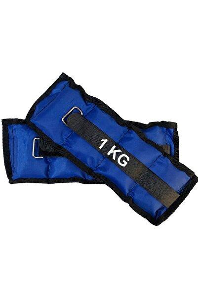 El Ve Ayak Bilek Ağırlığı 2x1 Kg Kum Torbası Korsesi Ağırlık Kas Güçlendirmek Pilates 1kg Mavi Set