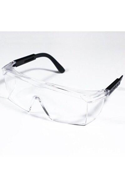 İş Güvenliği Dayanıklı Kulak Ayarlı Şeffaf İş Gözlüğü