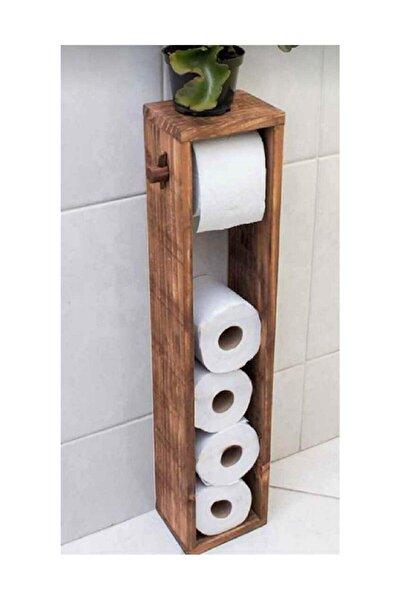 Kahverengi Ahşap Tuvalet Wc Kağıtlık Atk01