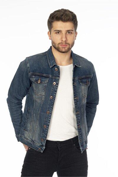 Erkek Mavi Slim Fit Kot Mont C310