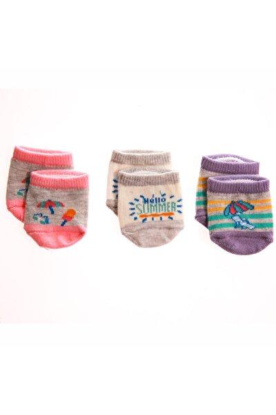 Kız Bebek Şemsiye 3'lü Patik Çorap