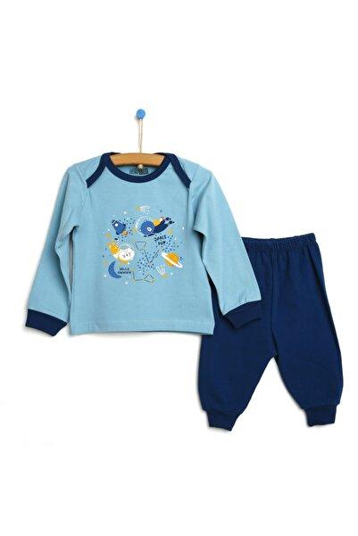 Erkek Bebek Koyu Mavi Basic Pijama Takımı