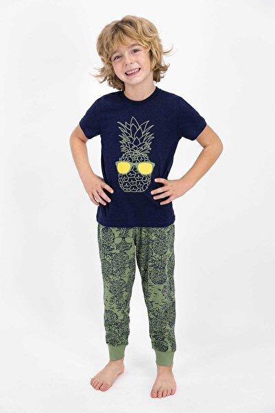 Erkek Çocuk  Kısa Kol Pijama Takımı Lacivert