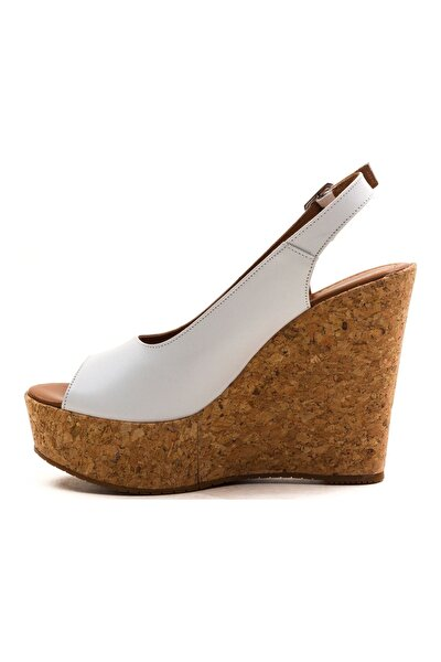 Kadın Deri Dolgu Topuk Sandalet
