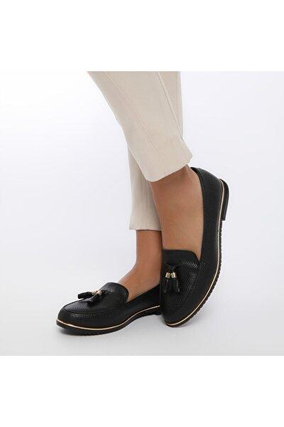 Ds18019-19iy Siyah Kadın Loafer Ayakkabı 100352241