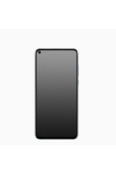 Fibaks Reno 5 Lite Tam Ekran Koruyucu Mat Seramik Kırılmaz Temperli Cam 9h Esnek Siyah