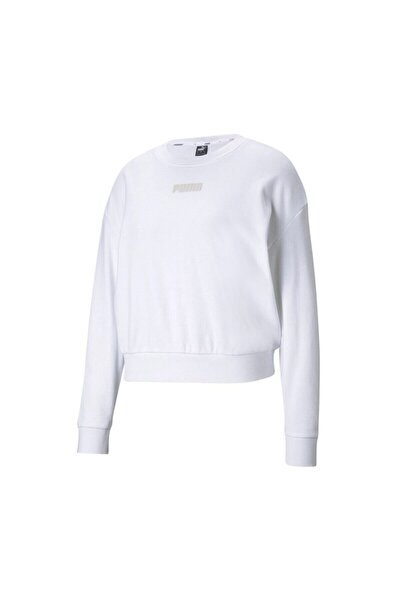 MODERN BASICS CREW TR Beyaz Kadın Sweatshirt 101085567