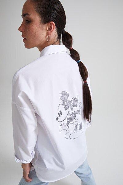Mickey Mouse Lisanslı Relax Fit Gömlek Tunik