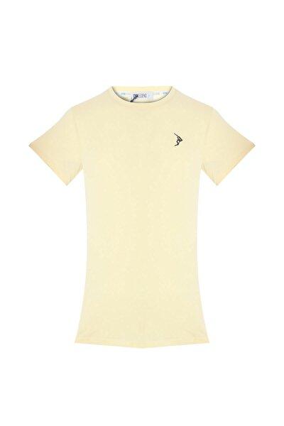 Erkek Krem Süprem Kısa Kollu Basic Tişört