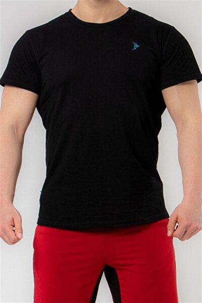 Erkek Siyah Pike Kısa Kollu Basic Tişört