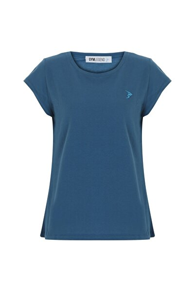 Kadın Petrol Pike Kısa Kollu Basic Tişört