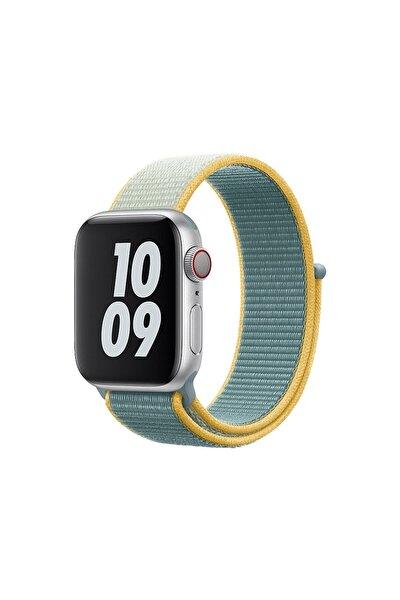 Apple Watch 1-2-3-4-5-6-se Serisi ( 38mm - 40mm ) Uyumlu Dokuma Spor Loop Kordon