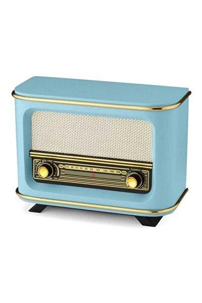 Mavi Istanbul Modeli Nostaljik Ahşap Radyo