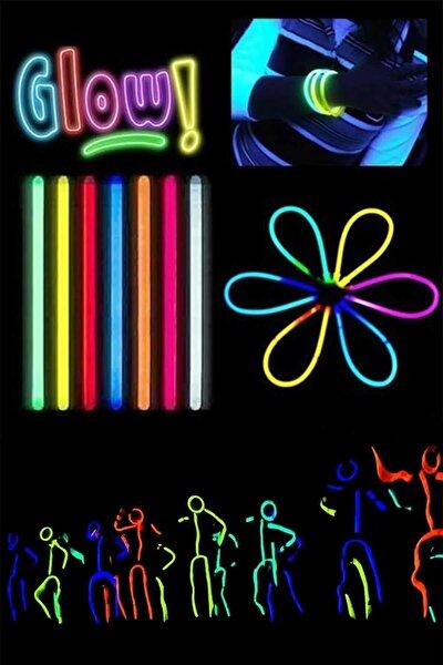50 adet Glow Stick Fosforlu Çubuk Bileklik