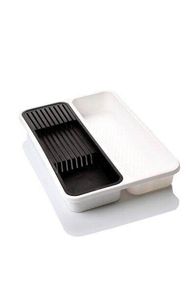 Plastik Çekmece Içi Düzenleyici Bıçaklık Beyaz