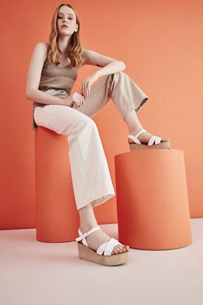 Beyaz Kadın Sandalet 01SAY208970A900