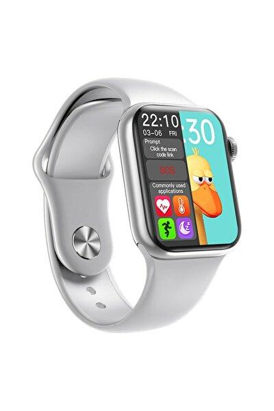 Smartwatch Hw16 Premium Gri Türkçe Akıllı Saat Hd Ips Tam Ekran Akıcı Arayüz Suya Dayanıklı