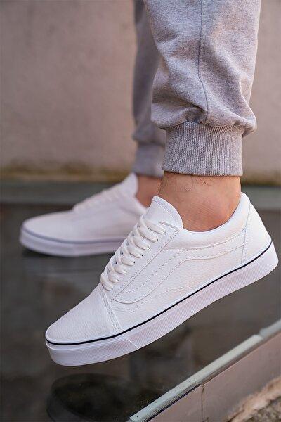 Unisex Beyaz Spor Unisex Ayakkabı
