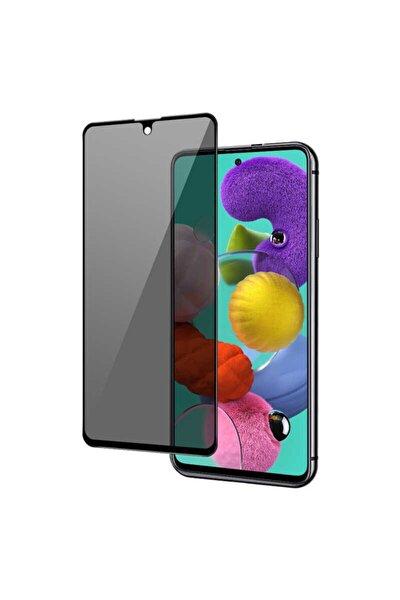 Fibaks Galaxy A71 Ekran Koruyucu Temperli Kırılmaz Cam PrivacyU yumlu  Hayalet Gizliklik Filtreli