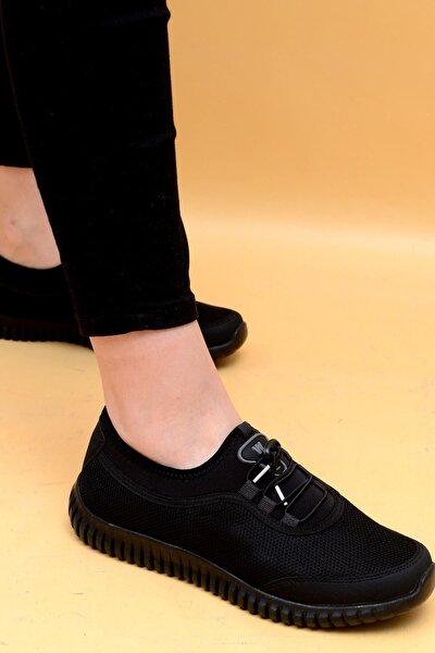 Kadın Siyah Günlük Spor Ayakkabı 1042