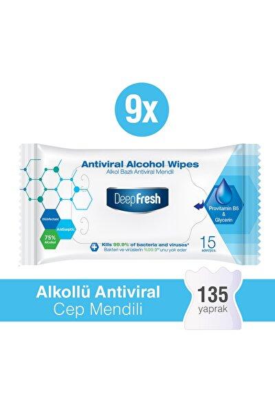 Alkollü Antiviral Islak Cep Mendili 9 x 15 Yaprak
