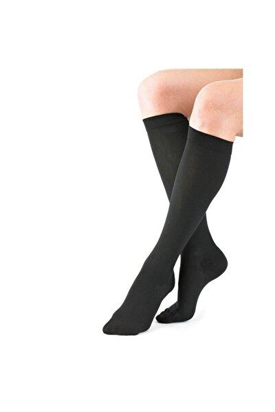 Siyah Diz Altı Orta Basınç (Ccl2 - 23-32 Mmhg) Kapalı Burun Varis Çorabı