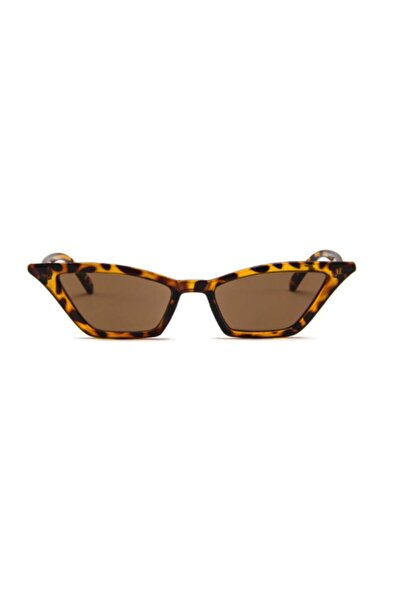 Kadın Leopar Köşeli Kedi Güneş Gözlüğü