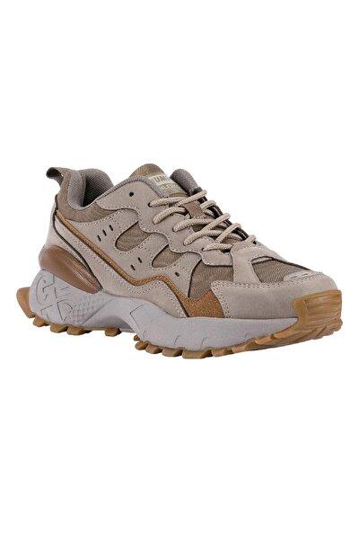 Kadın Bej Sneaker Spor Ayakkabı