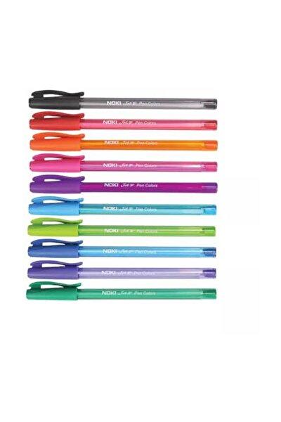 10 Renkli Tükenmez Kalem Seti  1 Mm