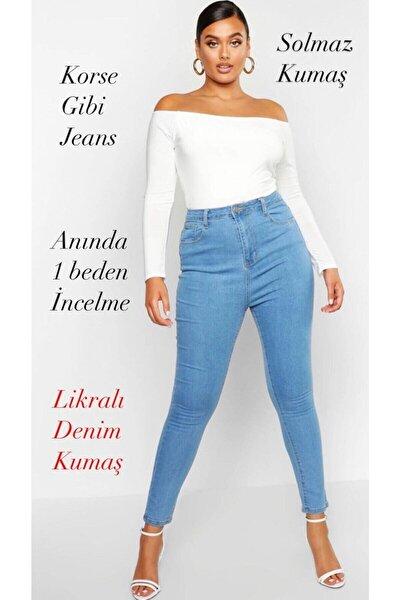 Büyük Beden Battal Jeans Açık Mavi Düz S.o.l.m.a.z (TOPARLAYICI)